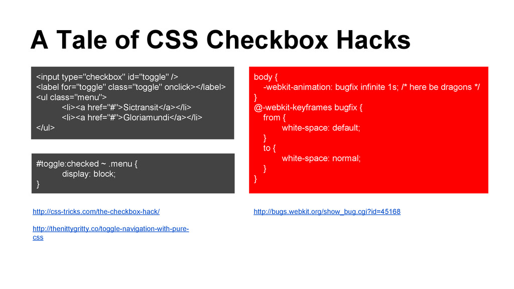 """A Tale of CSS Checkbox Hacks <input type=""""check..."""