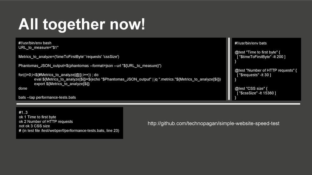 All together now! #!/usr/bin/env bash URL_to_me...