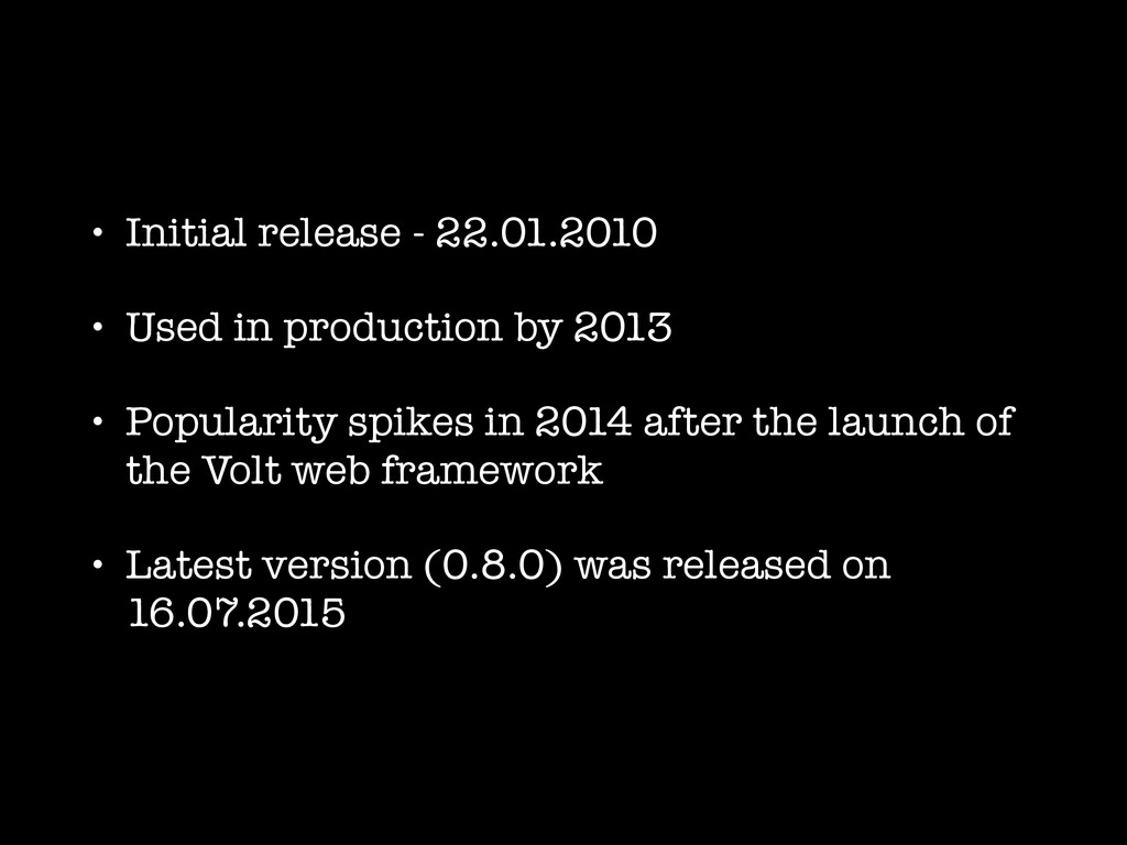 • Initial release - 22.01.2010 • Used in produc...