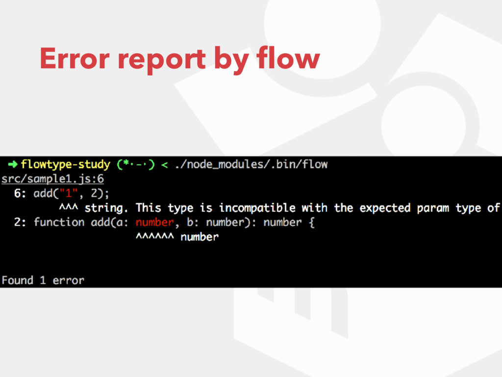 Error report by flow