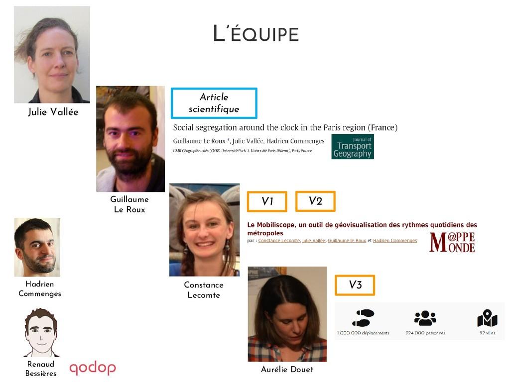 L'ÉQUIPE V1 V2 V3 Article scientifique Julie Va...