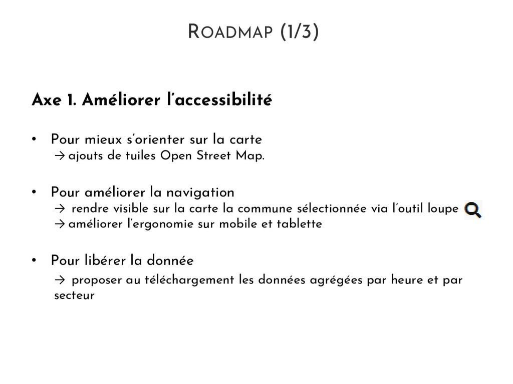 ROADMAP (1/3) Axe 1. Améliorer l'accessibilité ...