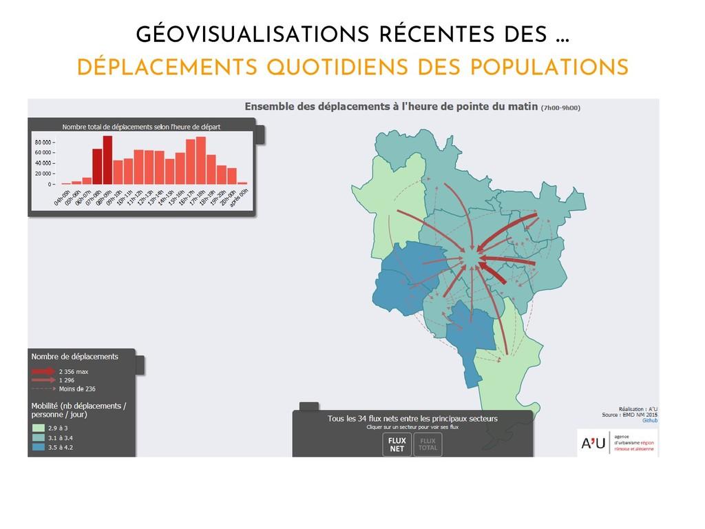 GÉOVISUALISATIONS RÉCENTES DES … DÉPLACEMENTS Q...