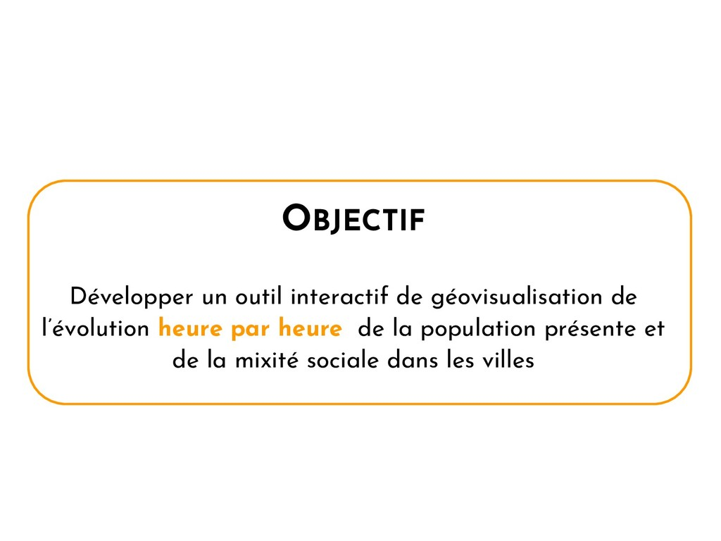 OBJECTIF Développer un outil interactif de géov...