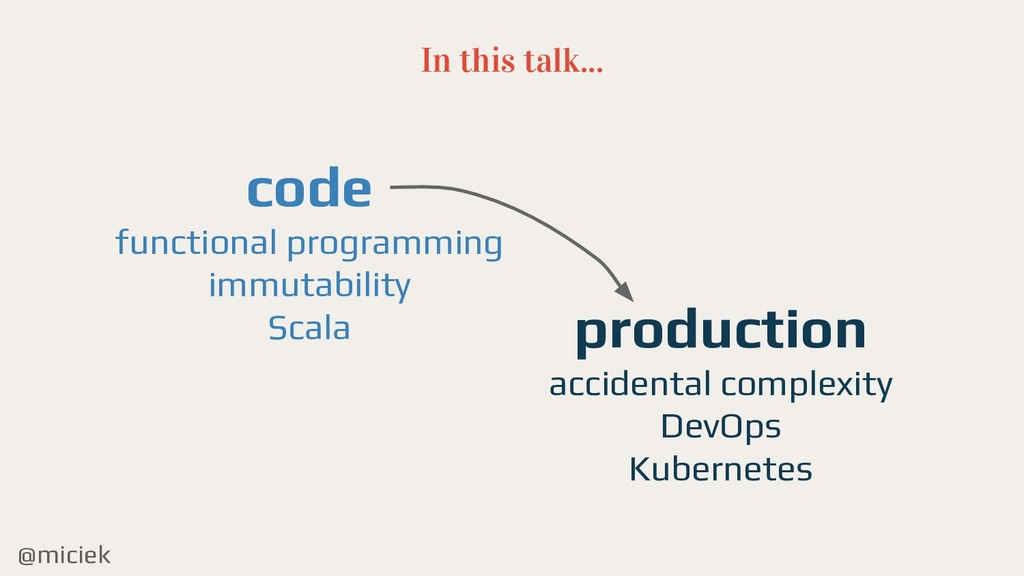 @miciek In this talk... code functional program...