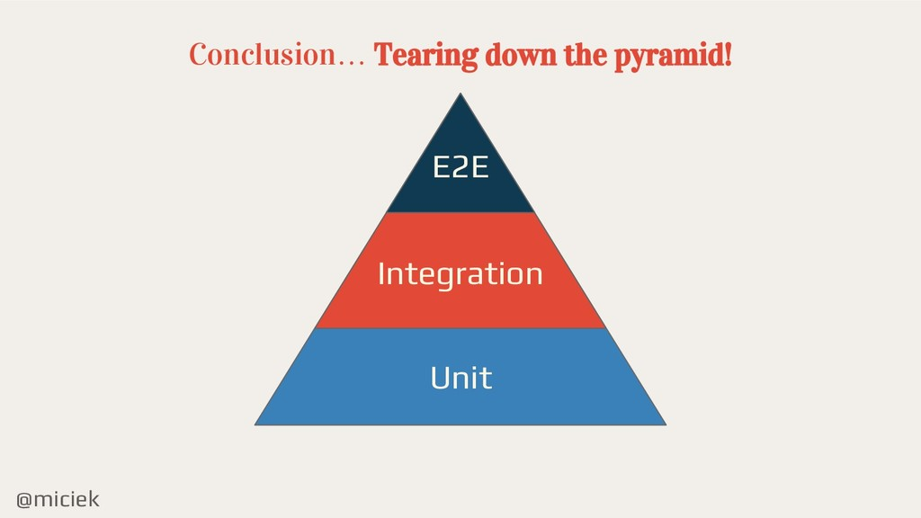 @miciek Conclusion… Tearing down the pyramid! E...