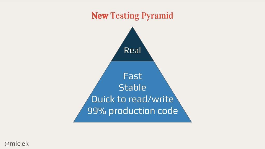 @miciek New Testing Pyramid Real Fast Stable Qu...