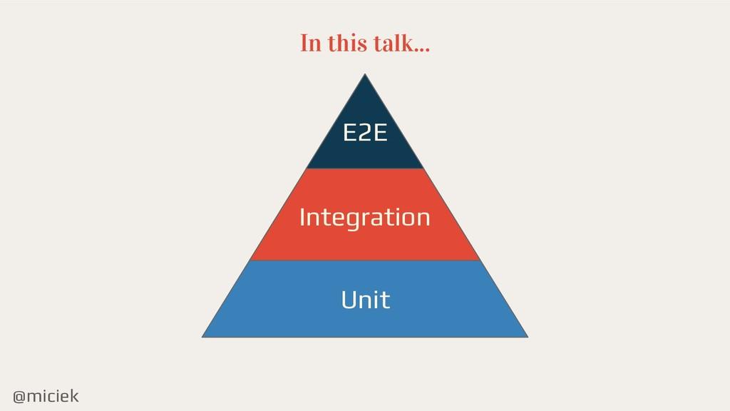 @miciek In this talk... E2E Integration Unit