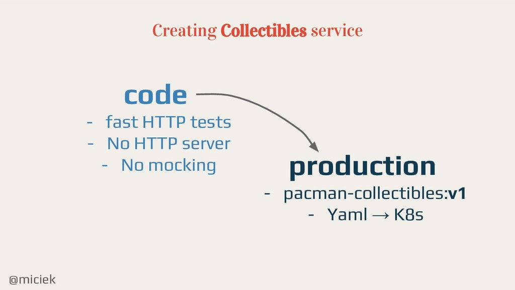@miciek Creating Collectibles service code - fa...