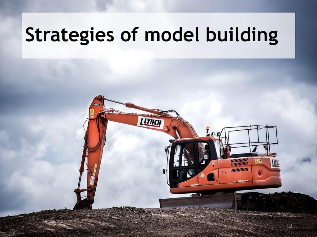 Strategies of model building 12