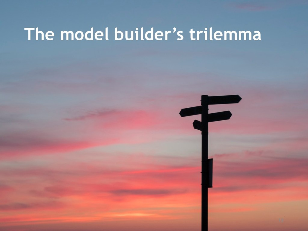 19 The model builder's trilemma