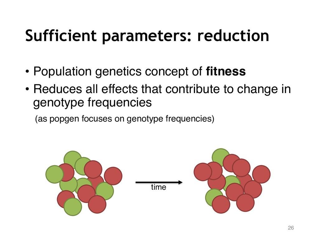 Sufficient parameters: reduction • Population g...