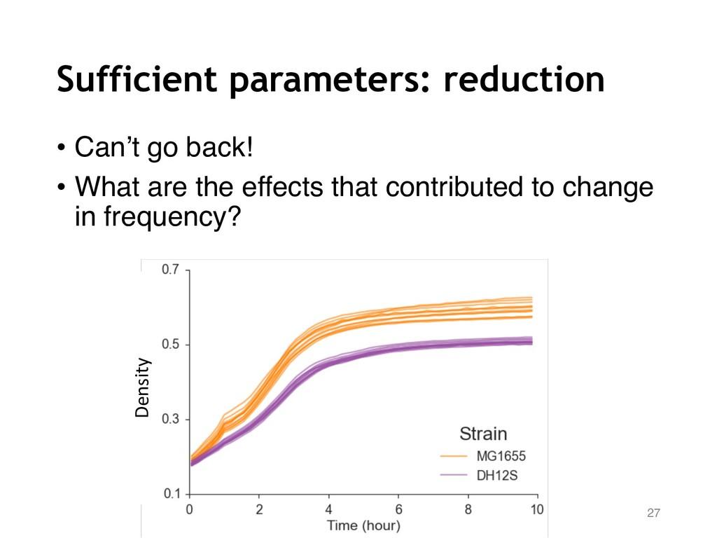 Sufficient parameters: reduction 27 Density • C...