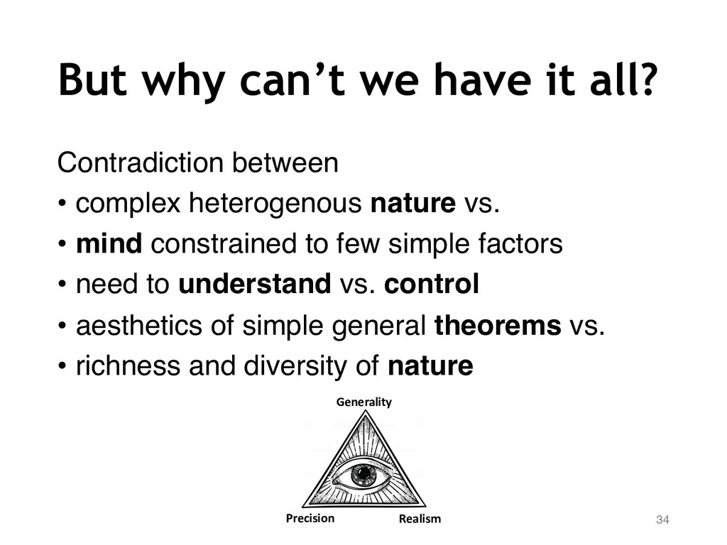 But why can't we have it all? Contradiction bet...