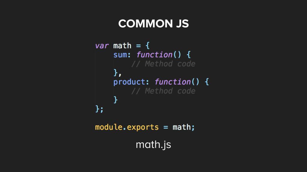 COMMON JS math.js