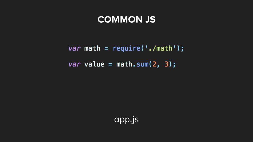 COMMON JS app.js