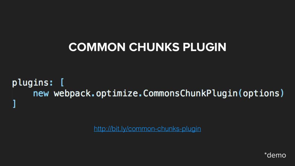 COMMON CHUNKS PLUGIN http://bit.ly/common-chunk...