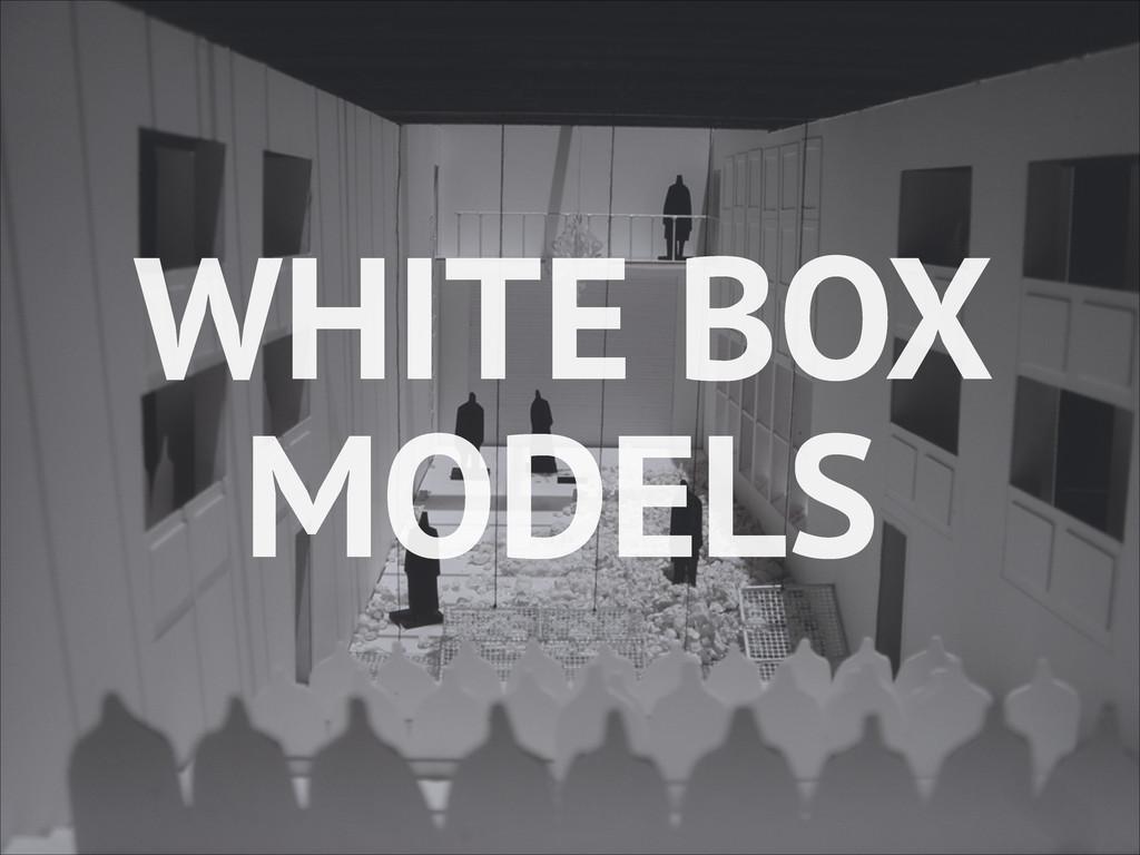 WHITE BOX MODELS