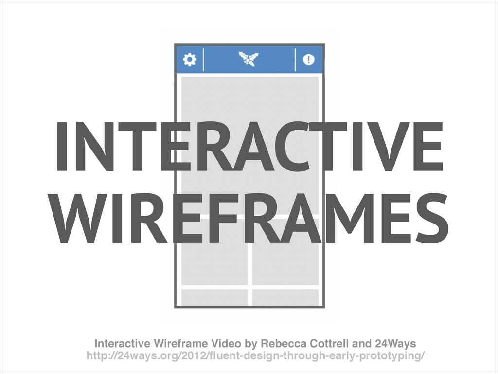 Interactive Wireframe Video by Rebecca Cottrell...