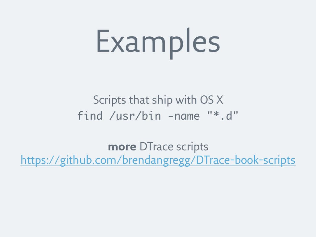 Scripts that ship with OS X find /usr/bin -name...
