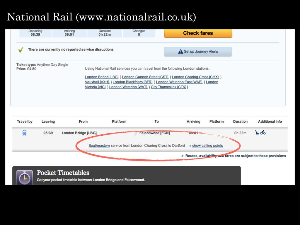 National Rail (www.nationalrail.co.uk)