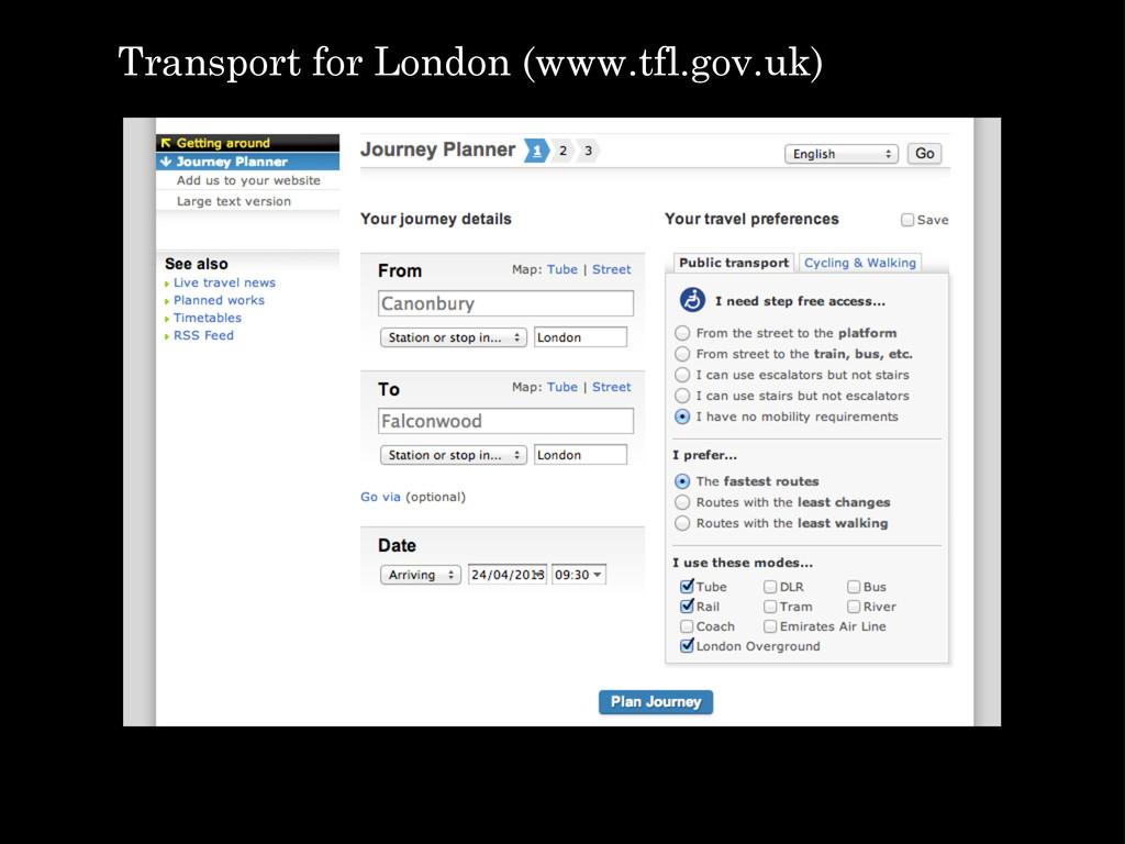 Transport for London (www.tfl.gov.uk)
