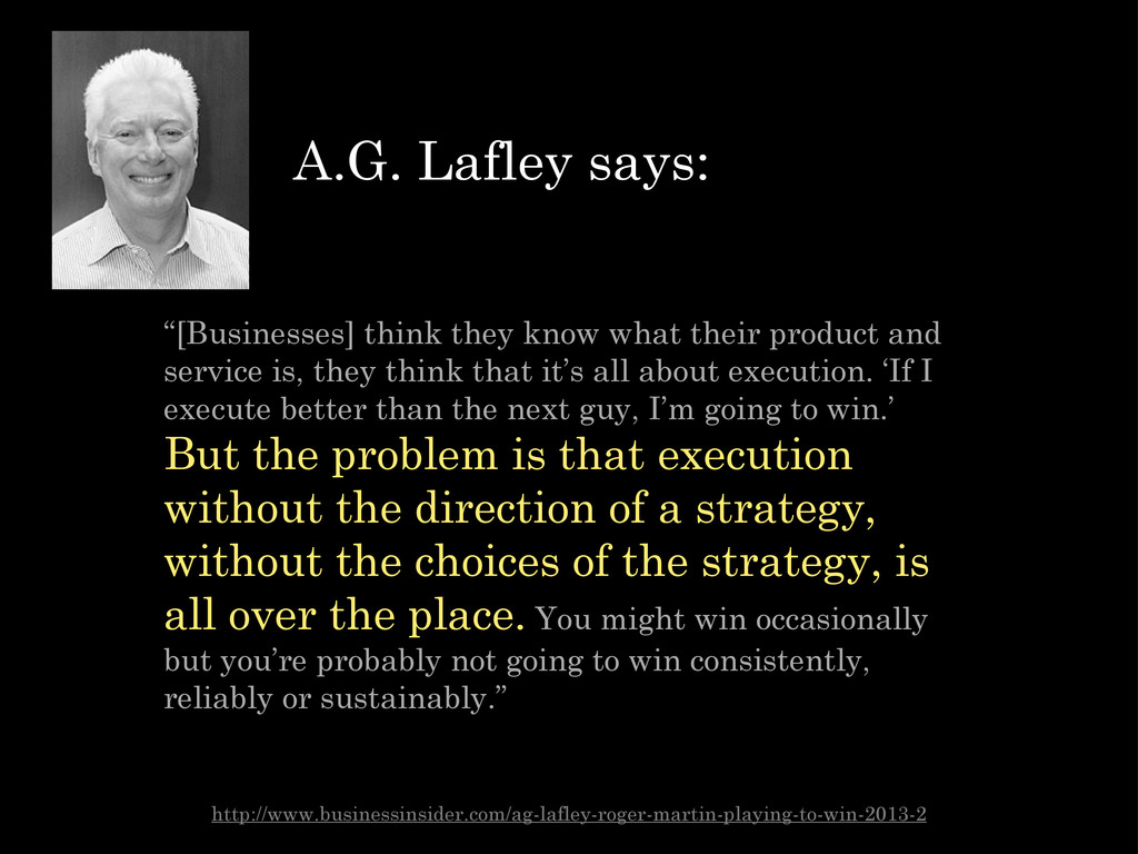 """[Businesses] think they know what their produc..."