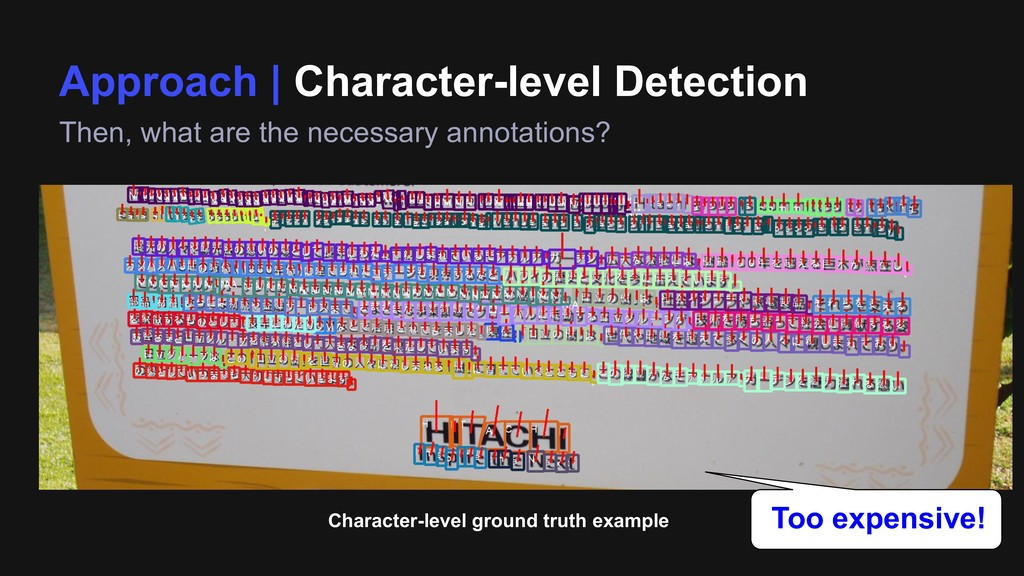 Approach | Character-level Detection Then, what...