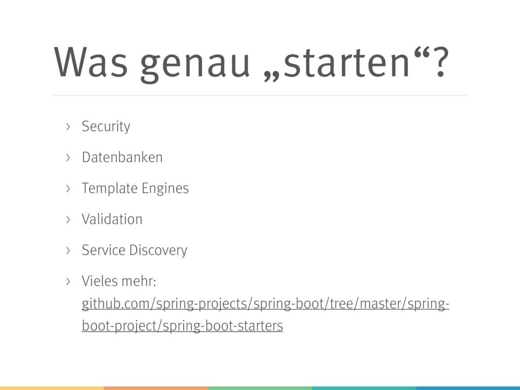 """Was genau """"starten""""? > Security > Datenbanken >..."""
