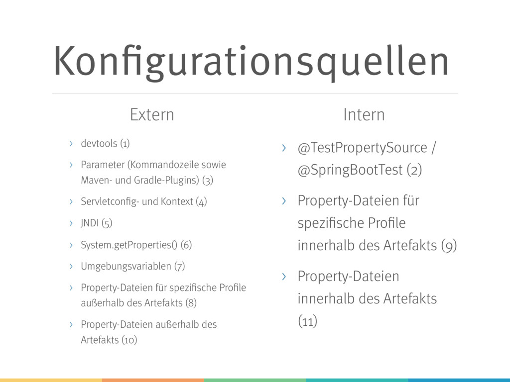Konfigurationsquellen > devtools (1) > Paramete...