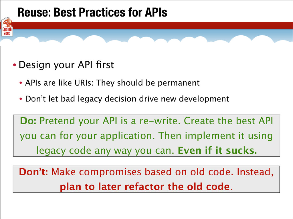 Reuse: Best Practices for APIs • Design your AP...