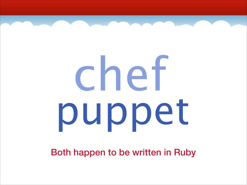 chef puppet apache aws azure bash bower cassand...