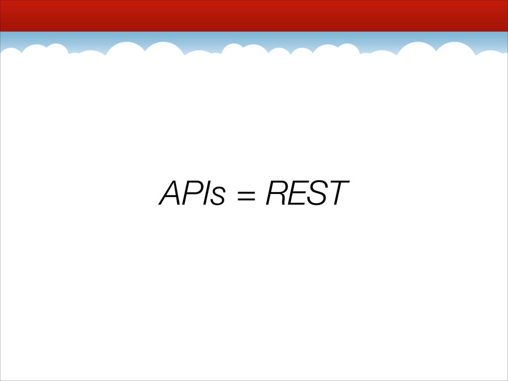 APIs = REST