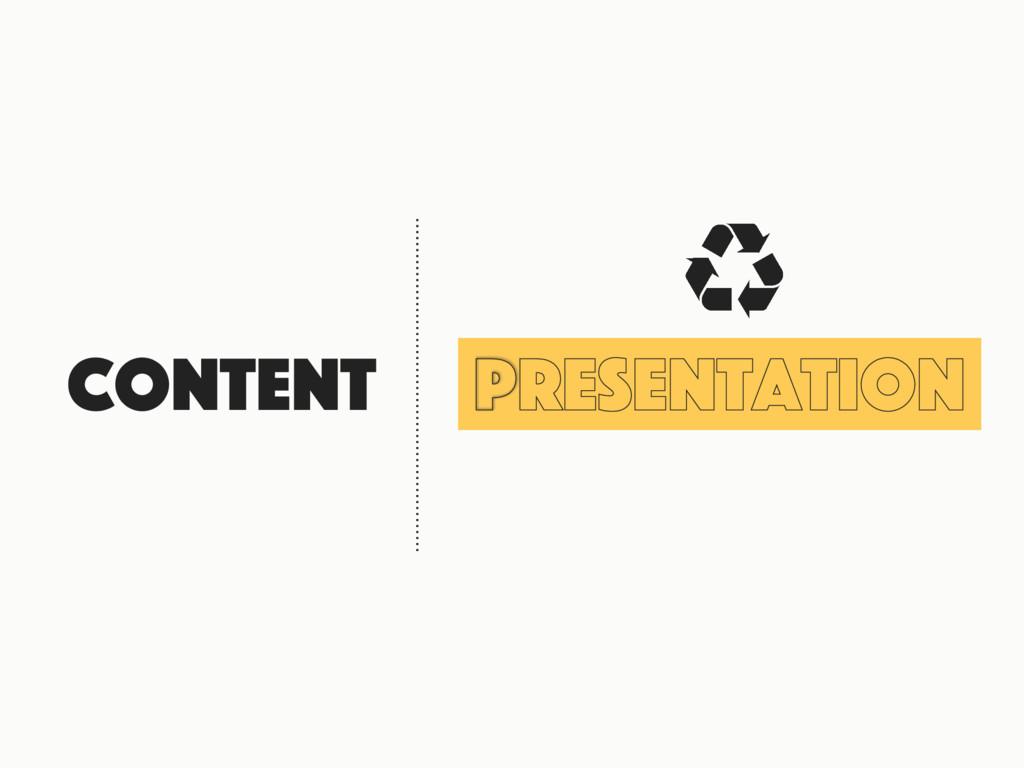 Content Presentation 㿃