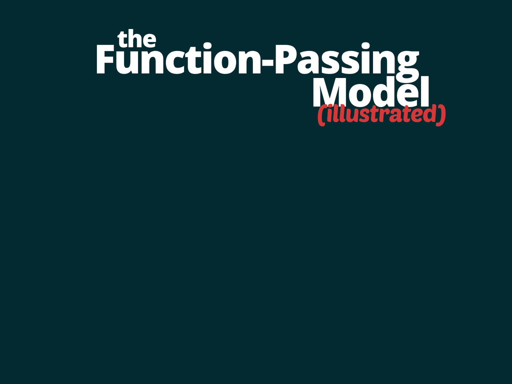 Function-Passing Model the (illustrated)