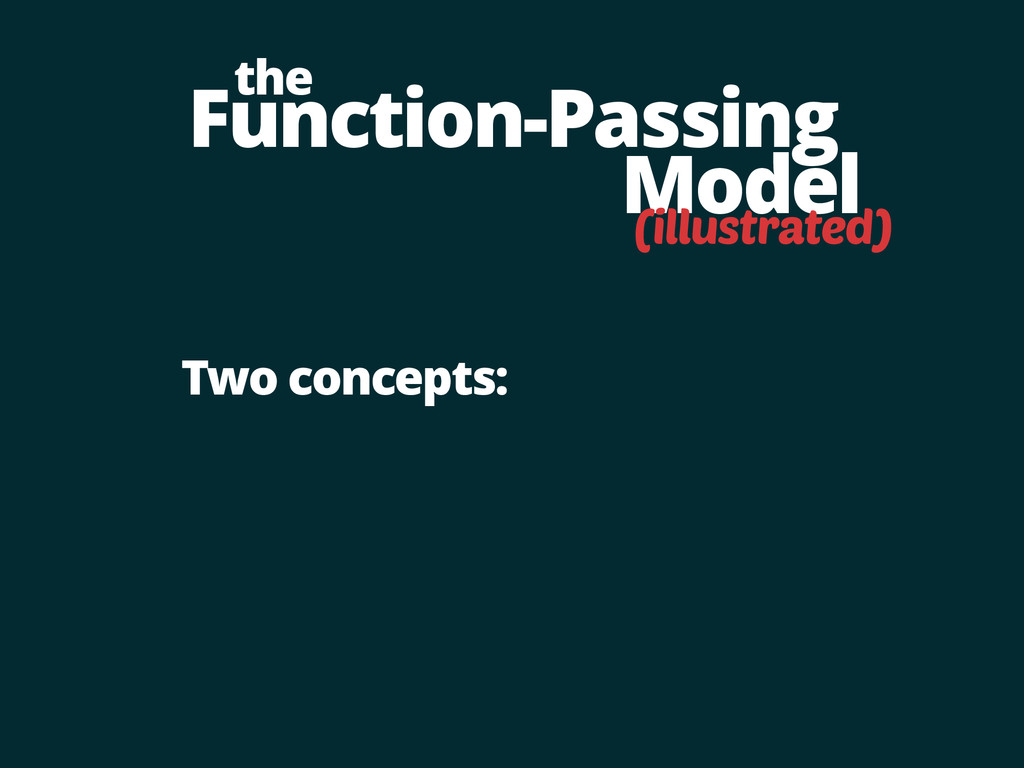 Function-Passing Model the Two concepts: (illus...