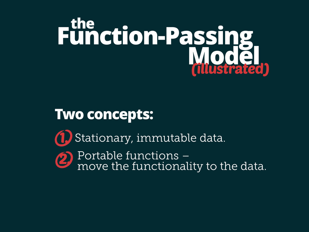 Function-Passing Model the Stationary, immutabl...
