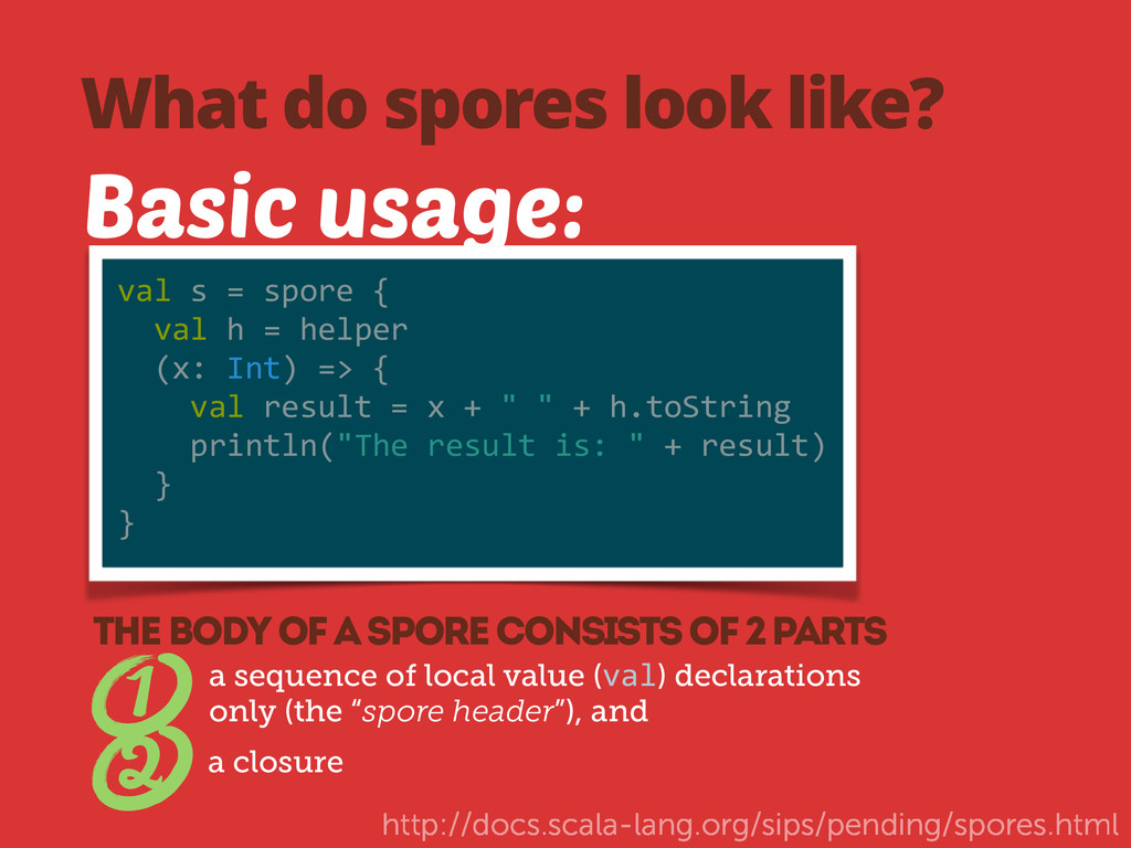 What do spores look like? Basic usage: val	