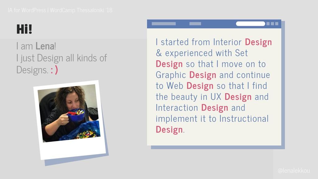 @lenalekkou IA for WordPress   WordCamp Thessal...