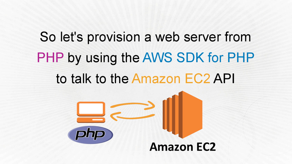 So let's provision a web server from PHP by usi...