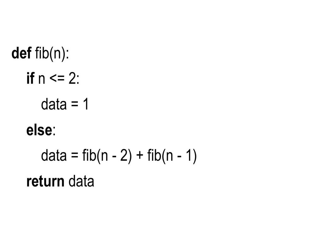 def fib(n): if n <= 2: data = 1 else: data = fi...