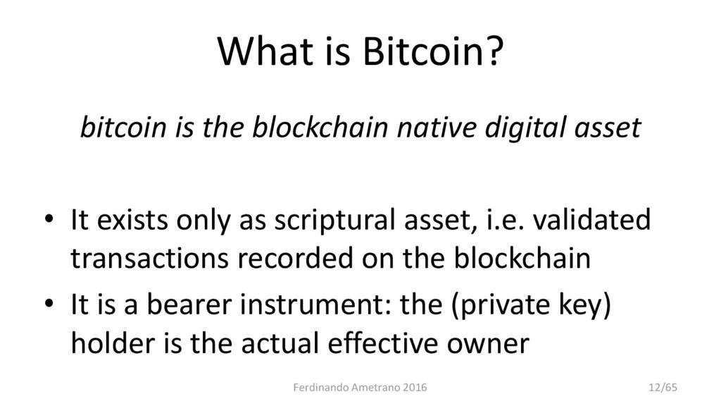 What is Bitcoin? bitcoin is the blockchain nati...