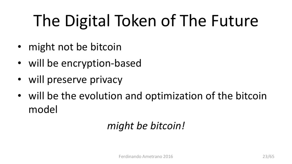 The Digital Token of The Future • might not be ...