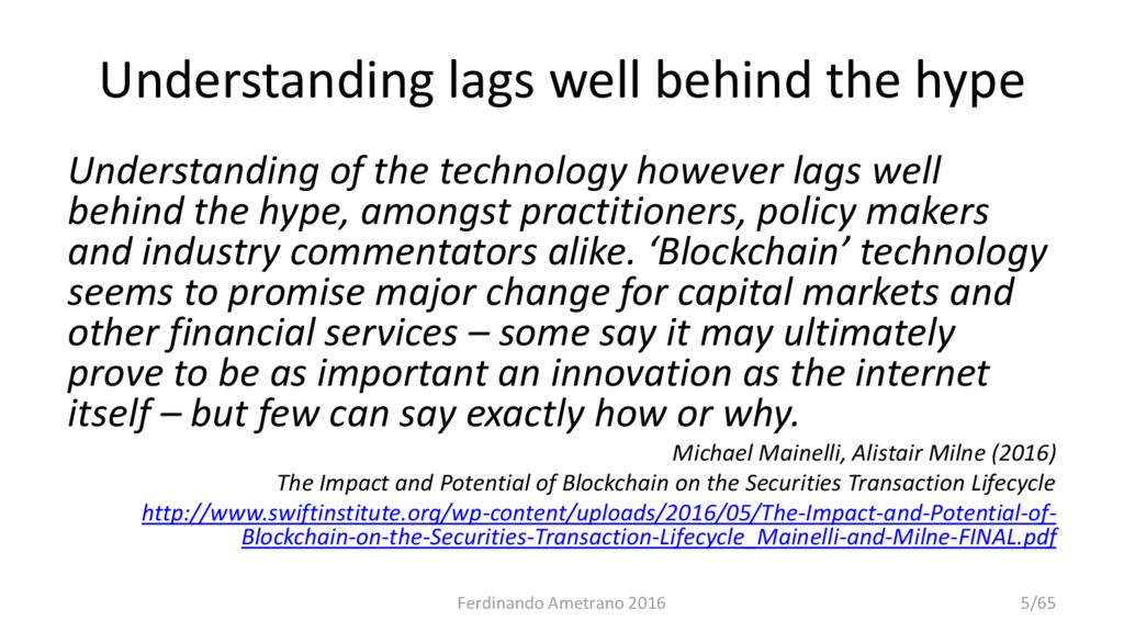 Understanding lags well behind the hype Underst...