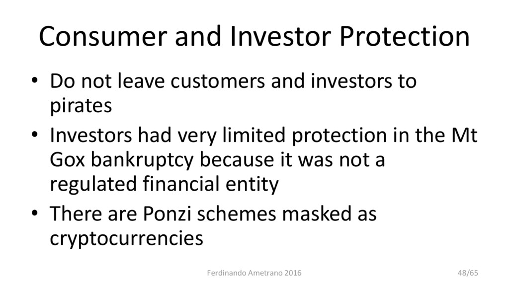 Consumer and Investor Protection • Do not leave...