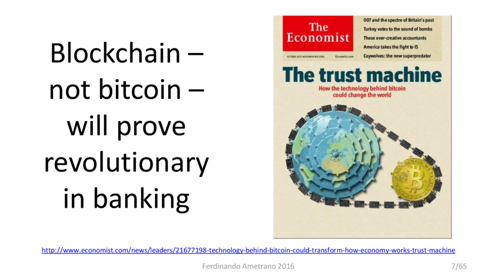 Blockchain – not bitcoin – will prove revolutio...