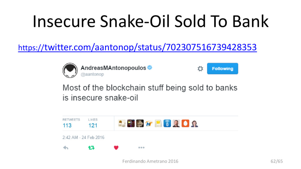 Insecure Snake-Oil Sold To Bank https://twitter...