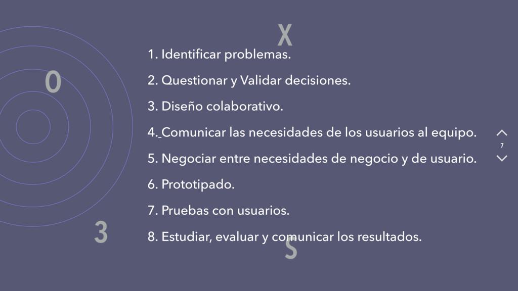 X O S 3 7 1. Identificar problemas. 2. Questiona...
