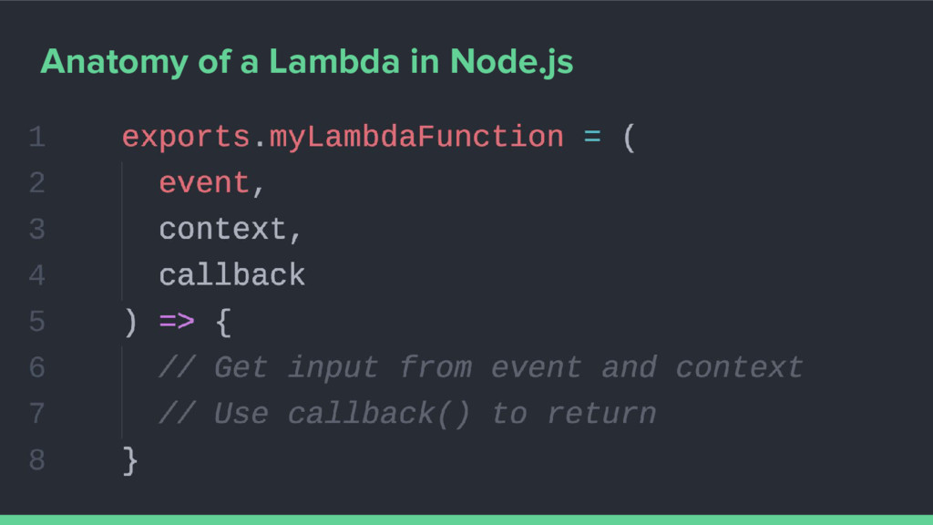 Anatomy of a Lambda in Node.js
