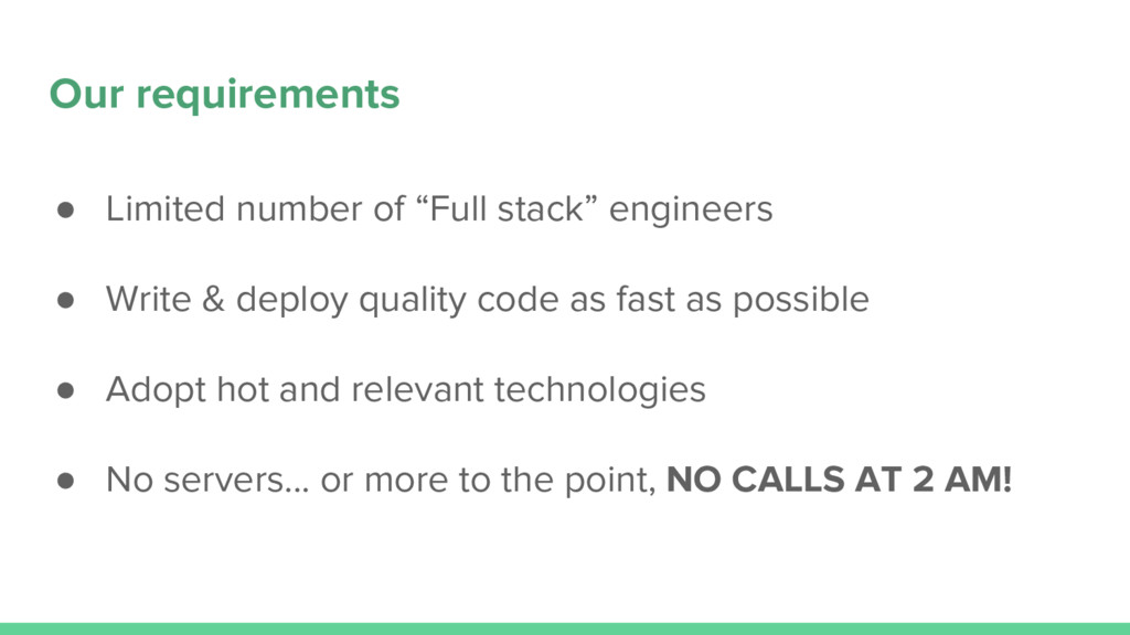 "● Limited number of ""Full stack"" engineers ● Wr..."